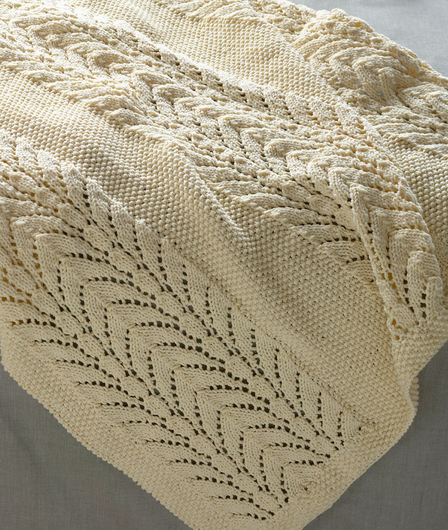 Free Knitting Pattern for Classic Lace Baby Throw