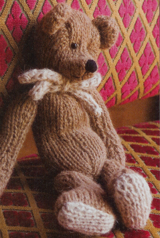 Knitting Pattern for Classic Teddy Bear