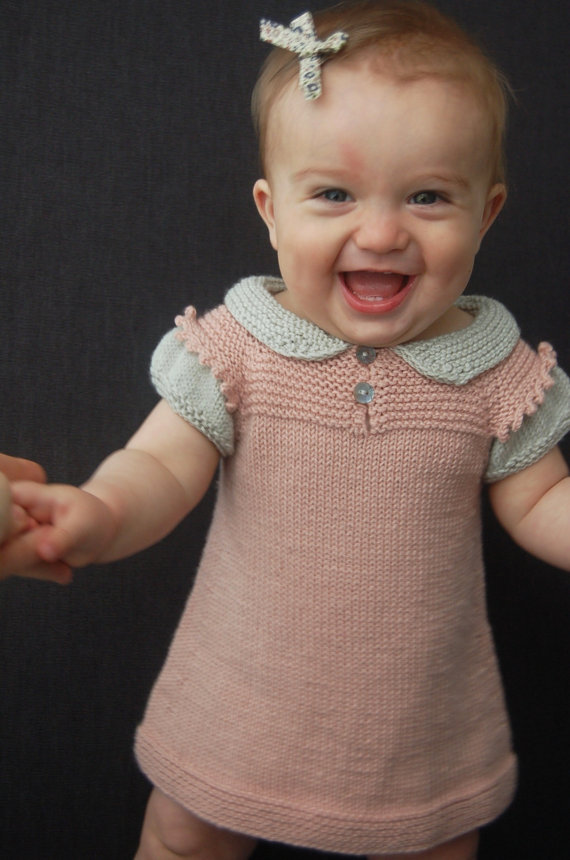 Knitting pattern for Claudine Layered Dress