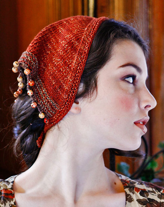 Free Knitting Pattern for Claudja Kerchief