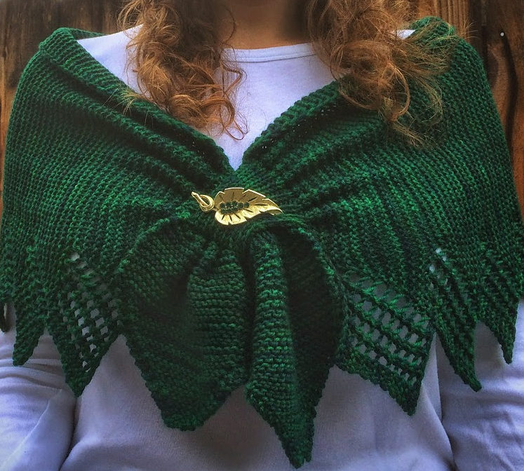 Free Knitting Pattern for Clever Little Shawl