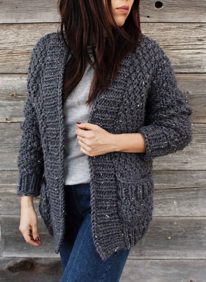 Free Knitting for Quick Cliffside Cardigan
