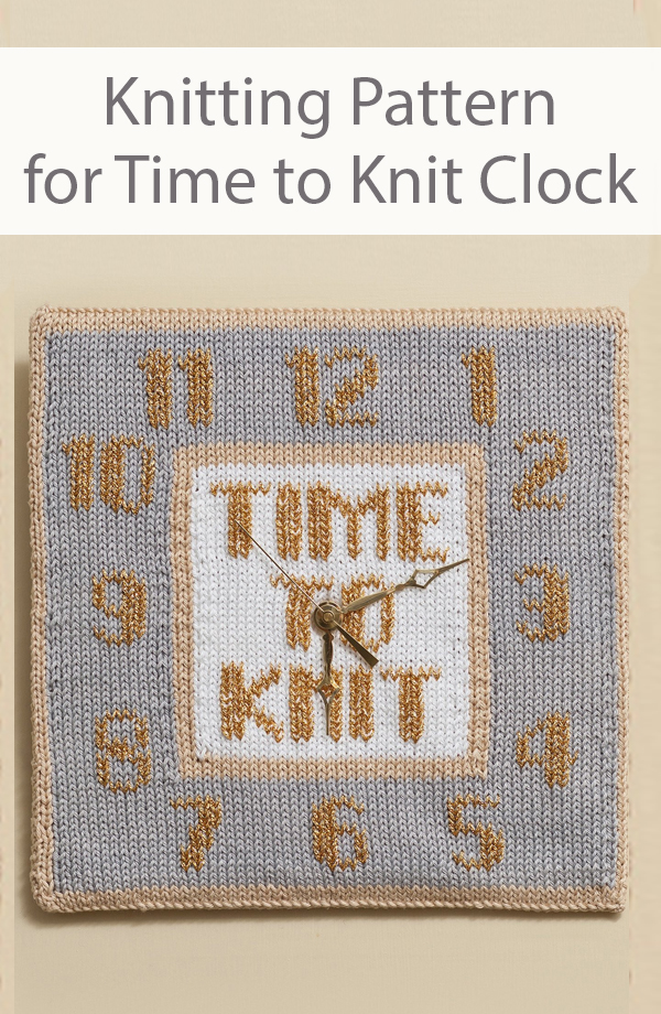 Knitting Pattern for Time to Knit Clock Face