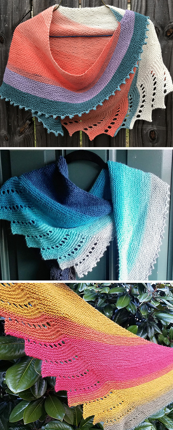 Free Knitting Pattern for Easy One Skein Close To You Shawl