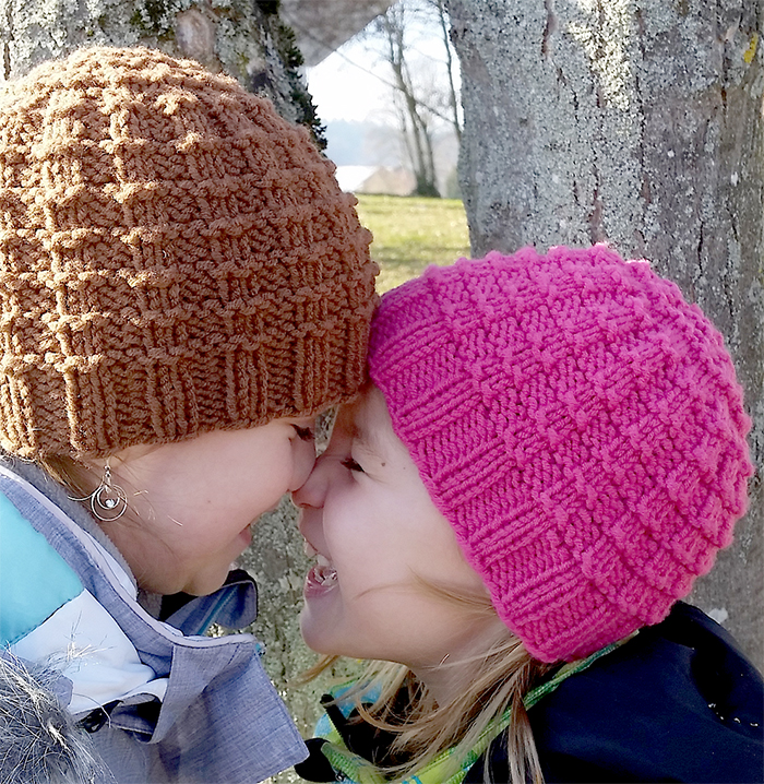 Free Knitting Pattern for Close Knit Waffle Hat