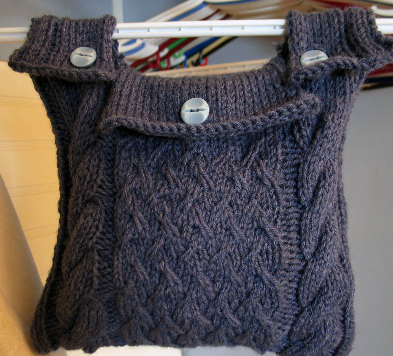 Free Knitting Pattern for Hanging Storage Bag