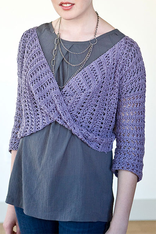 Free Knitting Pattern for Cloud Bolero
