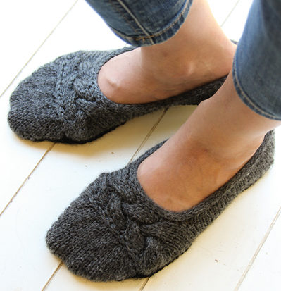 Knitting Pattern for Cloud Nine Ballet Slippers