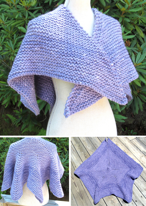 Free Knitting Pattern for Easy Cloud On Her Shoulders