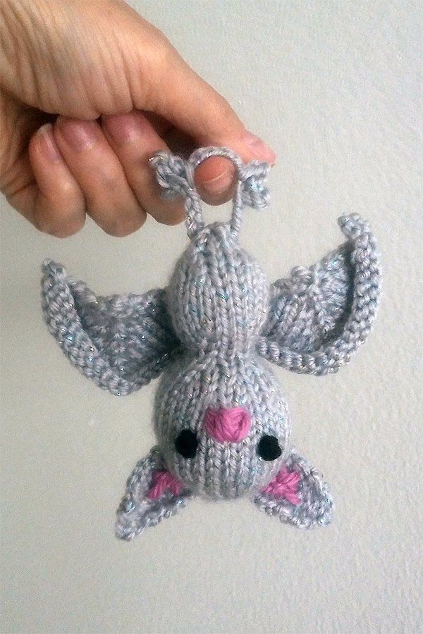 Free Knitting Pattern for Cloudy the Bat