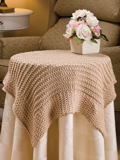 Knitting Pattern for Cluster Rib Tablecloth