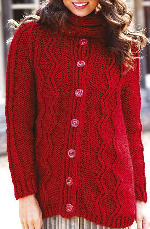 Knitting Pattern for Raglan Coatigan
