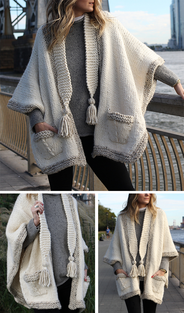 Knitting Pattern for Cobble Hill Morning Cape