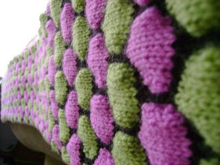 Free knitting pattern for Penelope Cobblestone Scarf and more colorful scarf knitting patterns