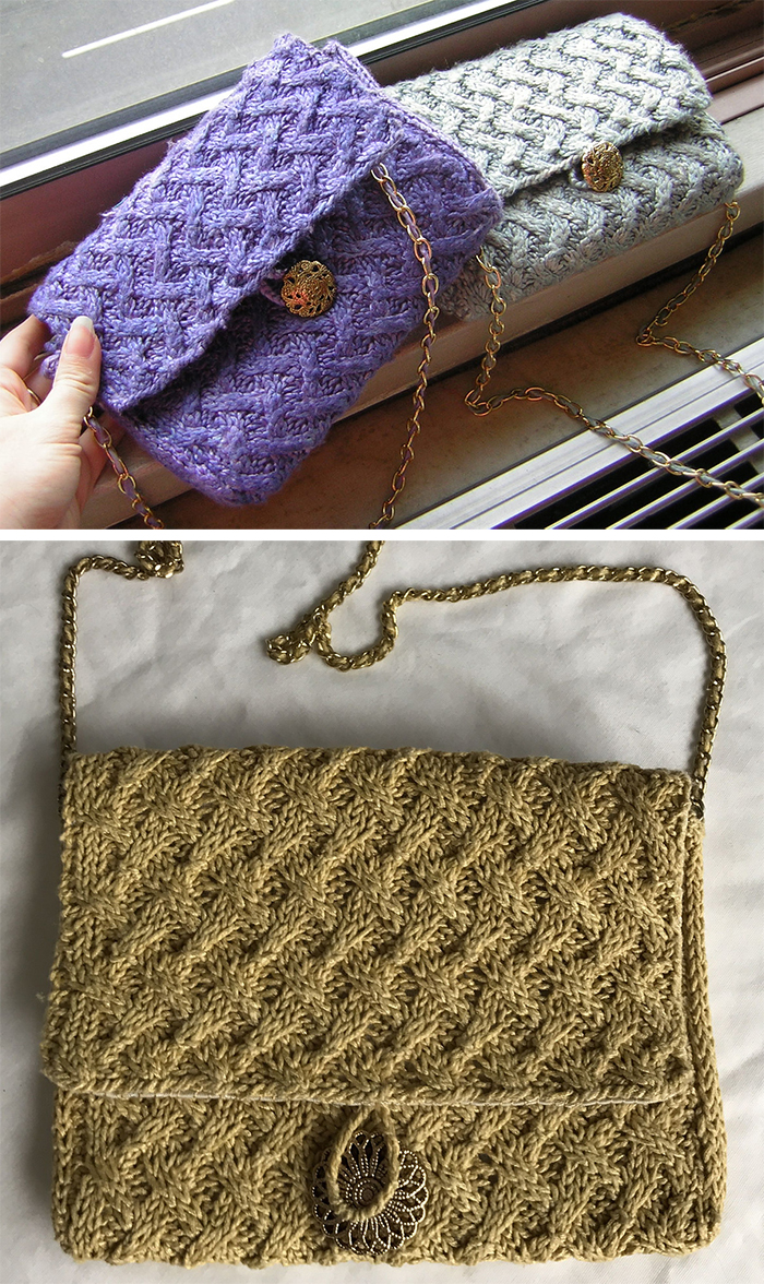 Free Knitting Pattern for Coco Clutch