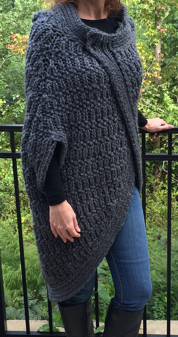 Free Knitting Pattern of Cocoon Cape
