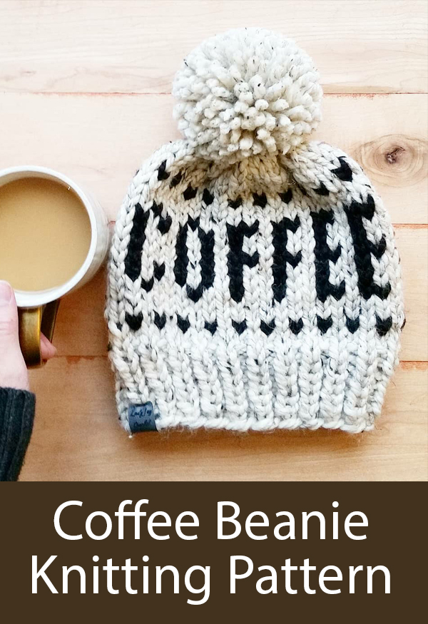 Knitting Pattern for Coffee Beanie