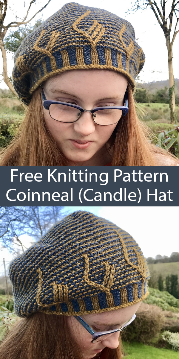 Free Knitting Pattern for Coinneal (Candle) Hat