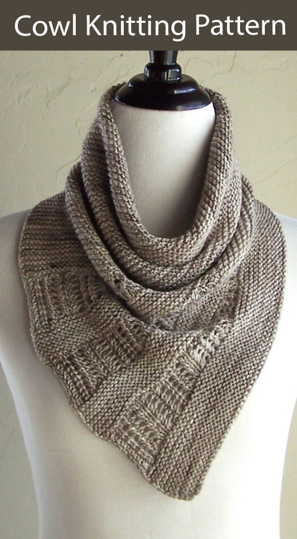 Cowl Knitting Pattern Cold Sand Cowl