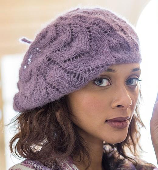c9c0dd46af0 Collier Slouchy Hat Free Knitting Pattern and more slouchy hat knitting  patterns