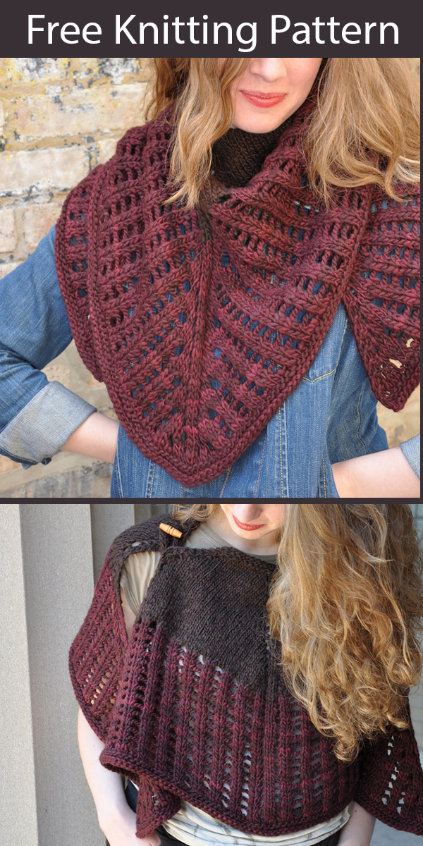 Free Knitting Pattern for Colonnade Shawl by Stephen West