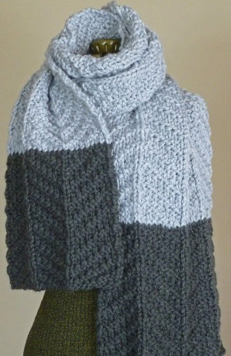 Knitting Pattern for Color Dipped Scarf
