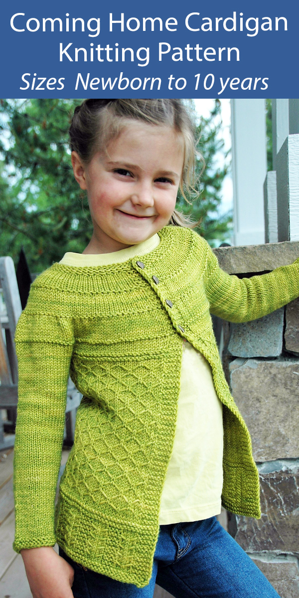 Baby and Child Cardigan Knitting Pattern Coming Home Cardigan
