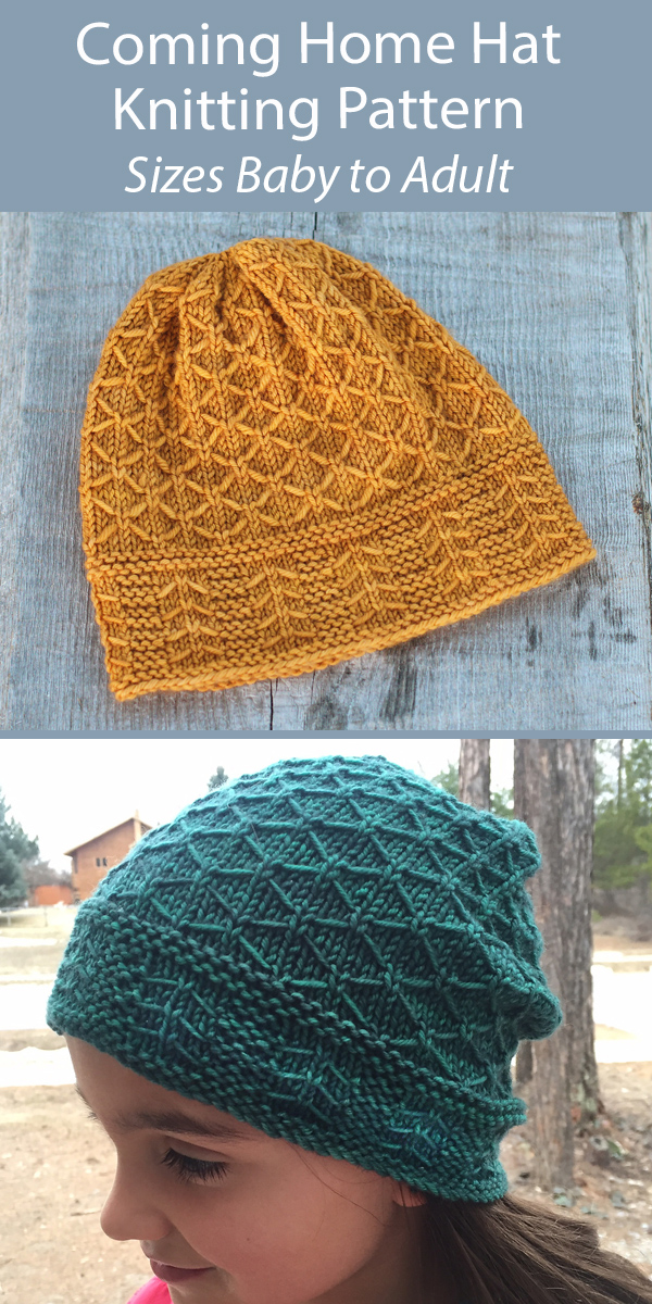 Hat Knitting Pattern Coming Home Hat