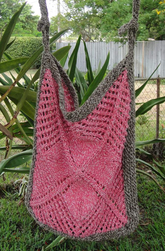 Knitting Pattern for Community Garden Bag
