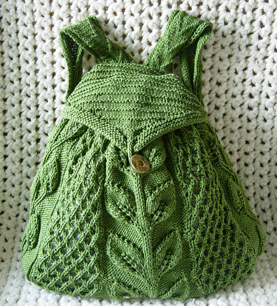 Knitting Pattern for Commuter Knapsack Artemis25rsl