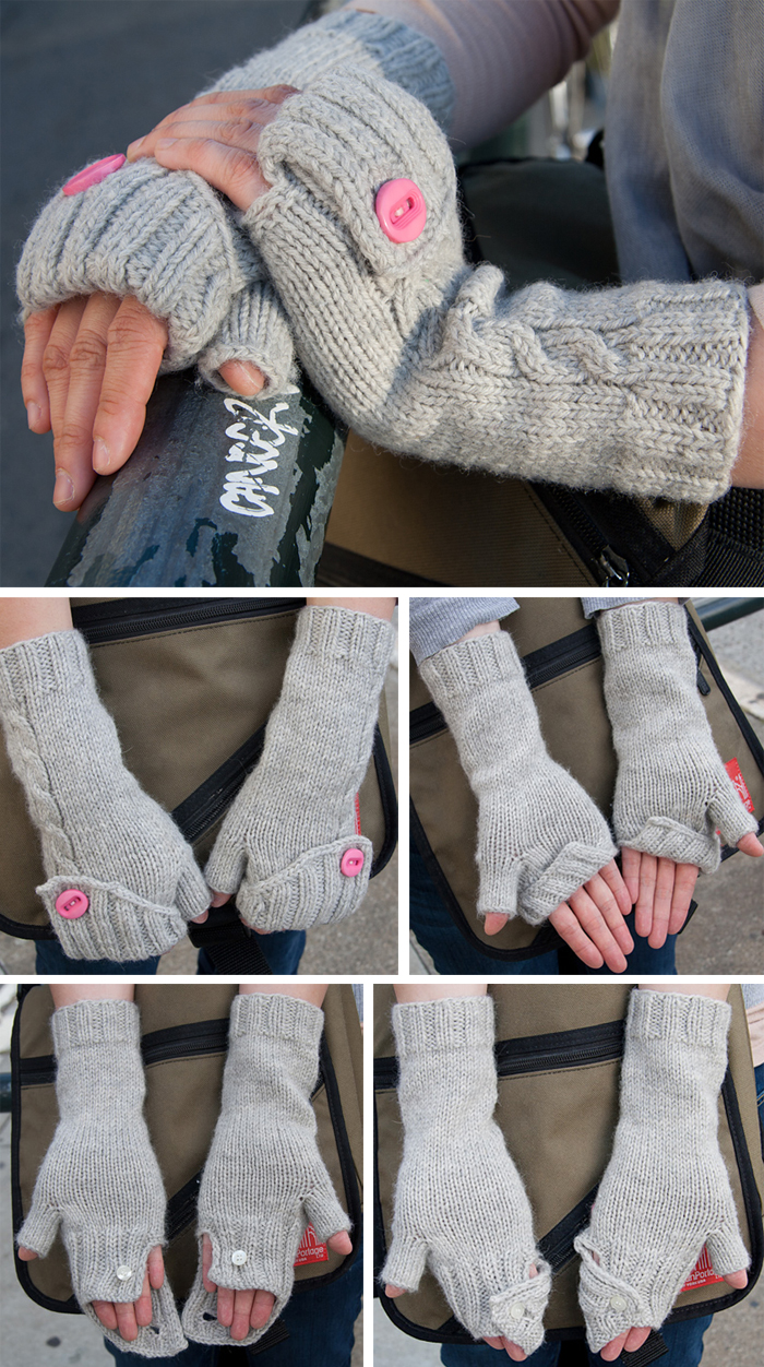 Free Knitting Pattern for Commuter Mitts