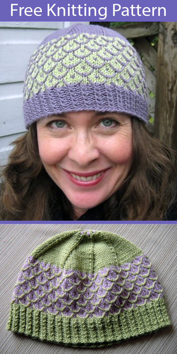 Free Knitting Pattern for Confectionery Cap Hat in 4 Sizes