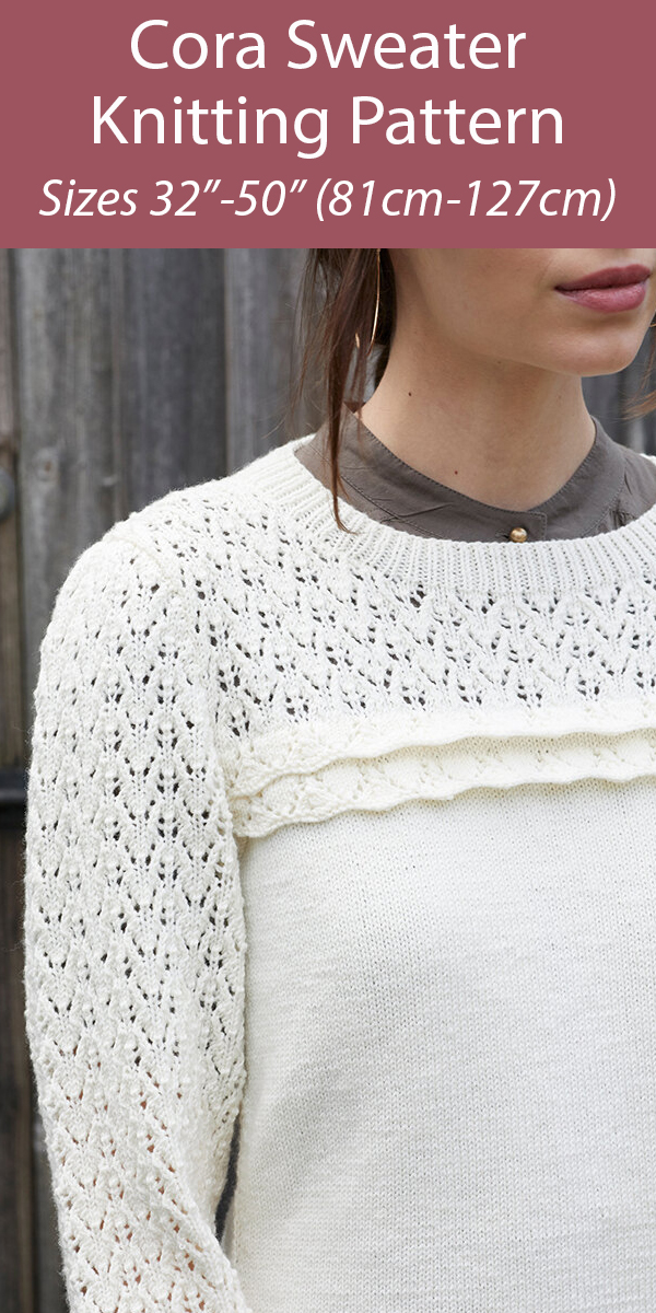 Knitting Pattern for Cora Sweater