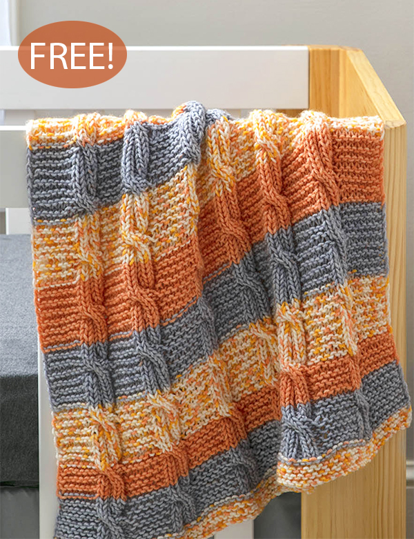 Free Knitting Pattern for Coral Bells Baby Blanket