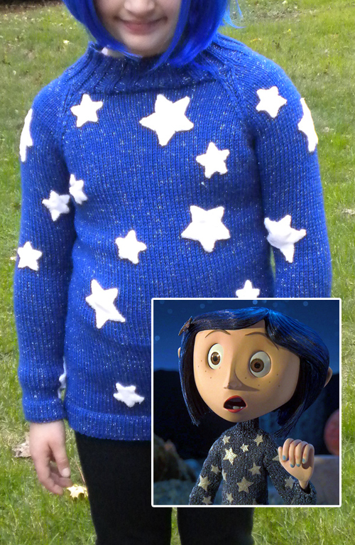 Free Knitting Pattern for Coraline Star Sweater