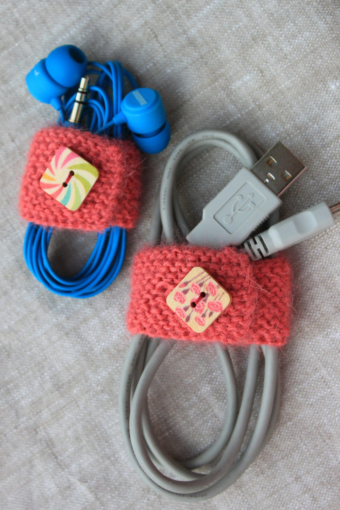 Knitting Pattern for Cord Organizer
