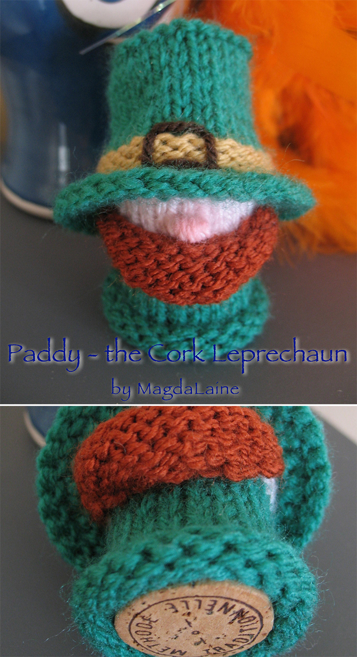 Free Knitting Pattern for Paddy - the Cork Leprechaun