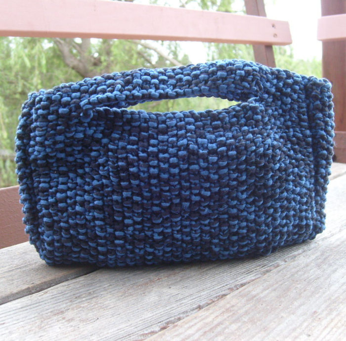 Free Knitting Pattern for Moss Stitch Clutch