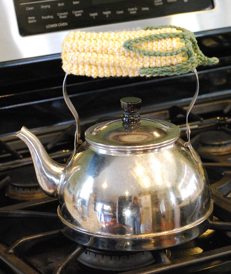 Free Knitting Pattern for Corn Skillet Handle Cover