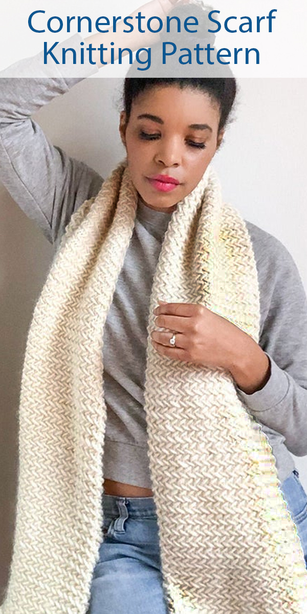 Knitting Pattern for Cornerstone Scarf