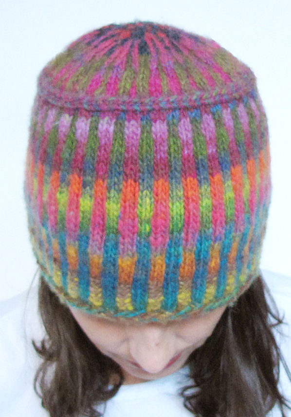 Free Knitting Pattern for Corrugated Pillbox Hat