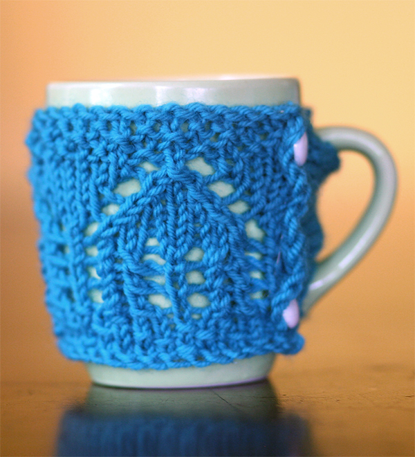 Free Knitting Pattern for Little Houses Mug Cosy