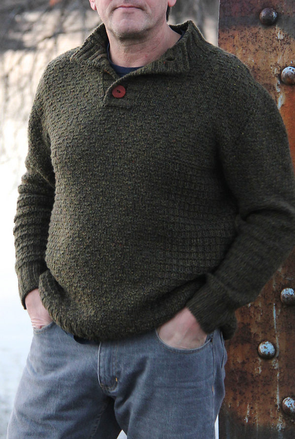 Knitting Pattern for Cotswold Henley Sweater
