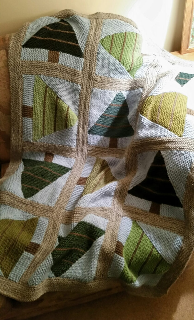 Knitting Pattern for Cottage Christmas Blanket