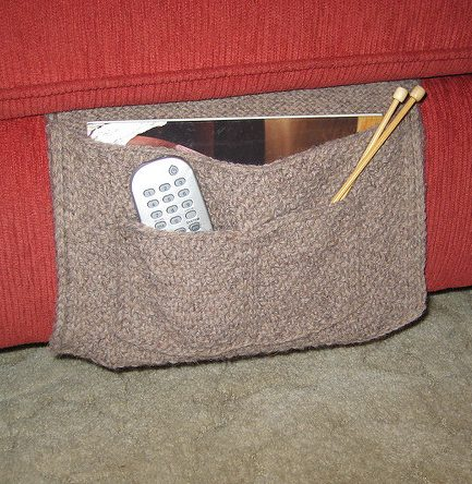 Free knitting pattern for Bed or Couch Caddy