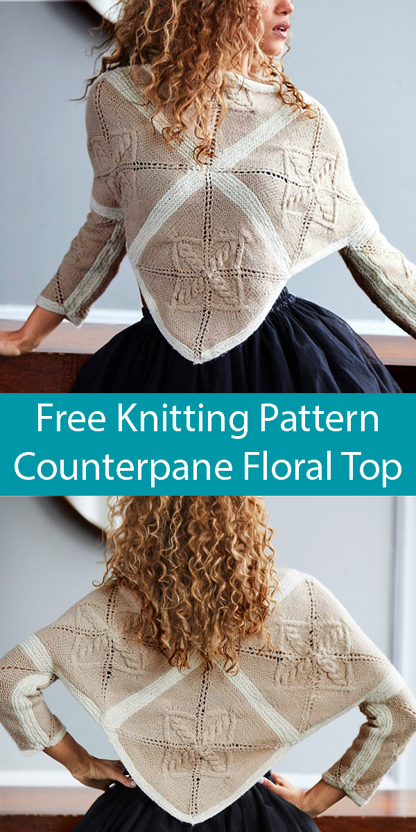 Free Knitting Pattern for Counterpane Floral Top