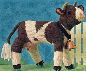 Free Knitting Pattern for Cow Toy