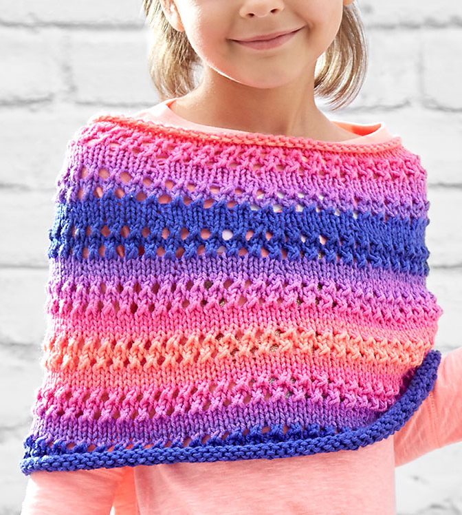 Free Knitting Pattern for Cozy Kiddo Poncho