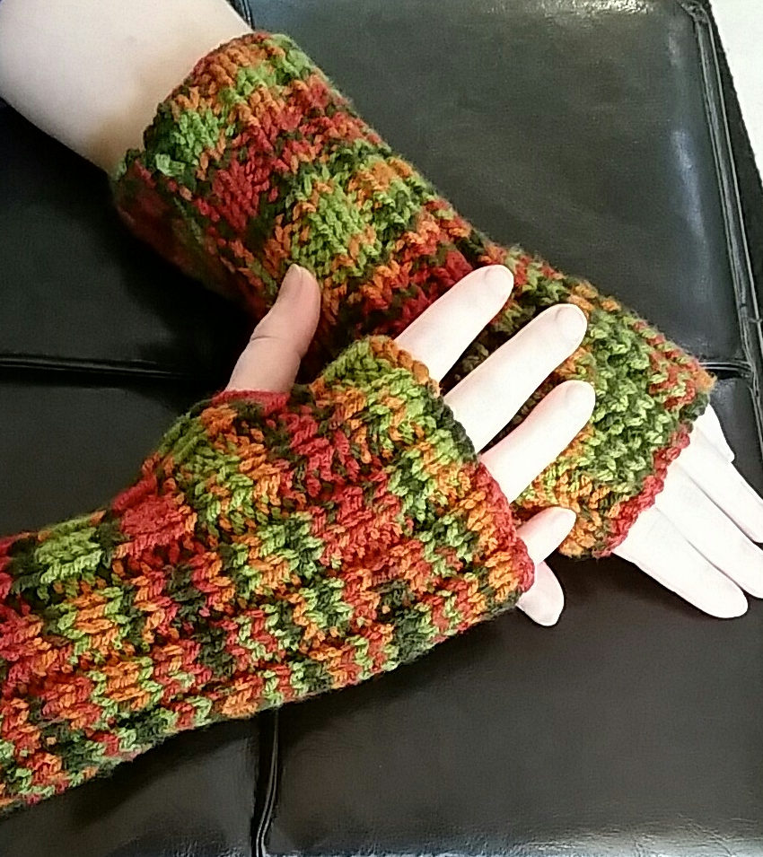 Free Knitting Pattern for Easy Cozy Wristers