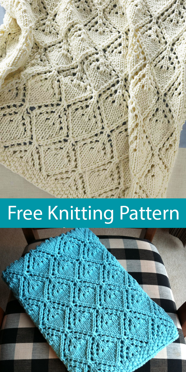 Free Knitting Pattern for Cozy Luxe Baby Blanket
